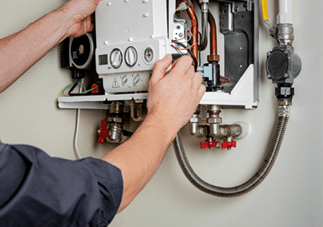 GB Electrical & Building Services Gas Engineer Fixing Boiler Detail